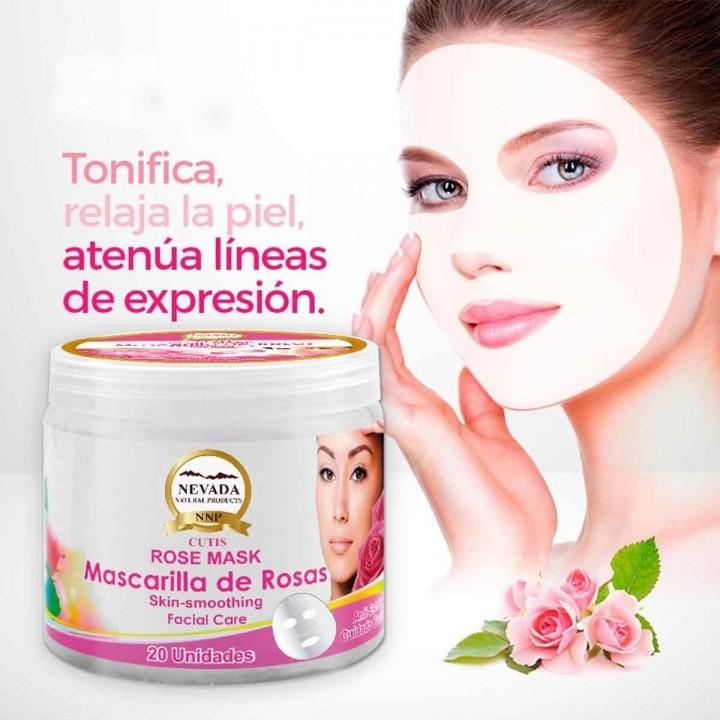 Mascarilla Facial De Rosas Nevada Natural Products Anti-Stress X 20 Unidades C1081 Nevada Natural Products