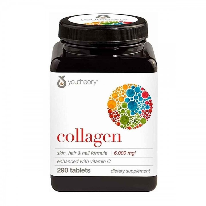 Youtheory Colágeno Fórmula Avanzada de Tipo 1, 2 y 3 + 18 Aminoácidos 290 Tabletas V3005 Youtheory
