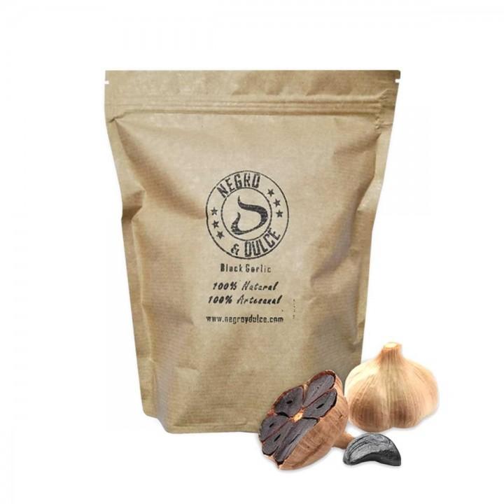 Ajo Negro y Dulce 100% Artesanal Black Garlic 500 g D1147 Negro y Dulce