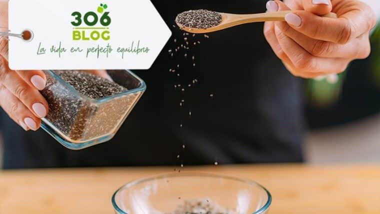 Batido estimulante físico y mental con semillas de chía y polen multifloral.